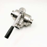 Hygienic Stainless Steel Clamped 3-Way Ball Valve T Port