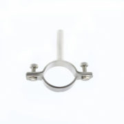 Food Grade Stainless Steel Round Tube Holder with Solid Bar DIN