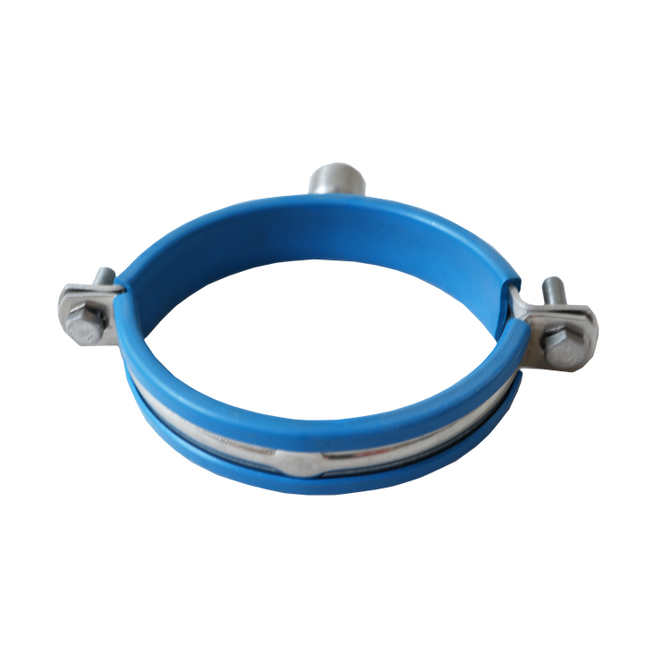 Hygienic SS304 Pipe Hanger with Rubber Sleeve with FNPT Screw Or Plate