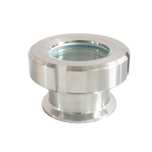 Sanitary Clamp Union Sight Glass with Borosilicate Glass for Extractor Tanks