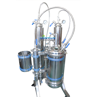 5LB Closed Loop Extraction System with full jacketed columns or diry ice sleeve