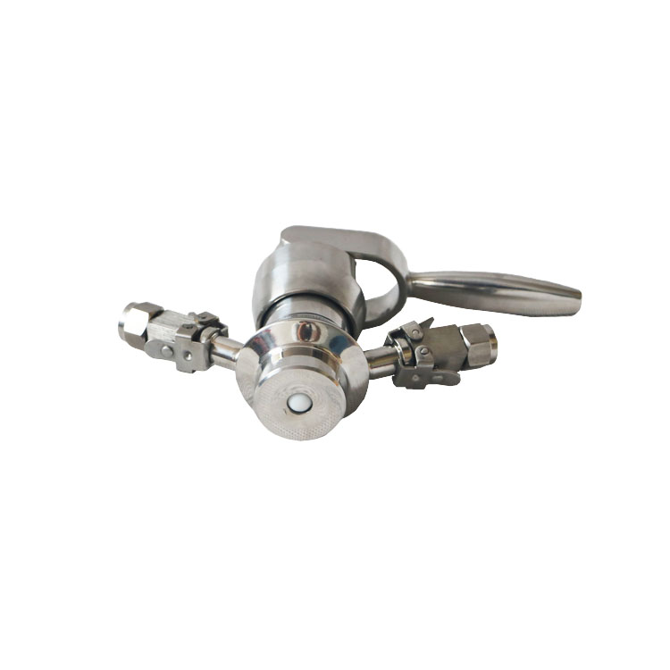 Hygienic Manual Aseptic Clamp Sampling Valve with Chain