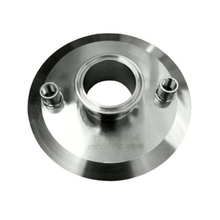 Sanitary Tri Clamp End Cap with NPT Port for closed loop extractors