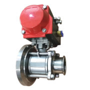 Hygienic Stainless Steel Pneumatic Tank Bottom Ball Valve with Aluminum Actuator