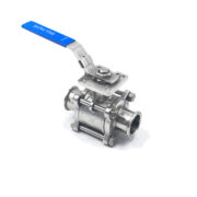 Sanitary 3-Piece Manual Tri-clamp Non Resort Ball Valve