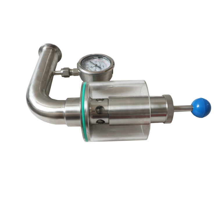 Hygienic Tri Clover Compatible Beer Bunging Valve Device Adjustable Pressure