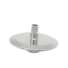 3″ Shower head End cap with 1/4″ MNPT and spray ball
