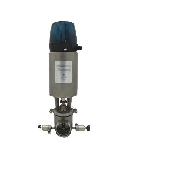 Sanitary Double Seat Mixproof Valve With Intelligent Head