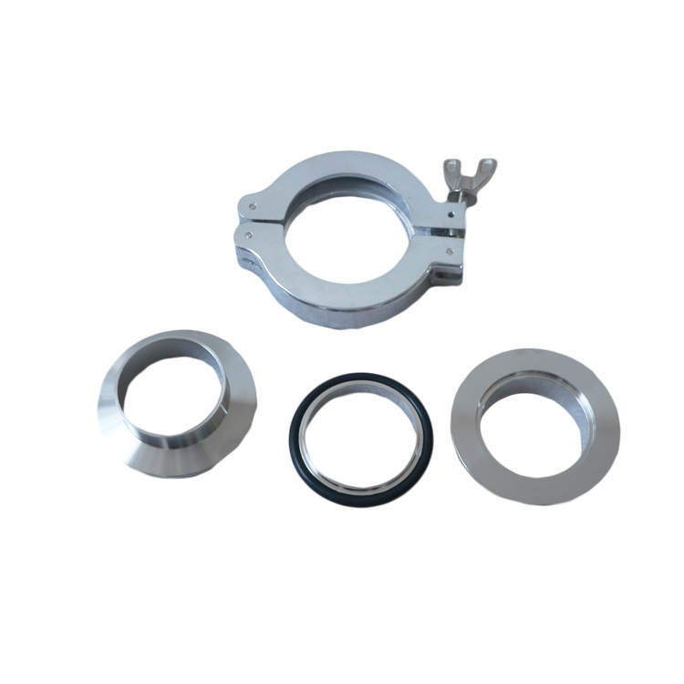 KF50 Vacuum Weld Stub Ferrule Set with Clamp And Centering O Ring