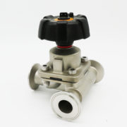 Sanitary SS316 Welded 3-Way T Type Diaphragm Valve