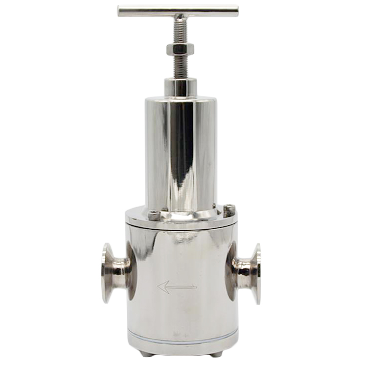 Sanitary Pressure Reducing Valve With Pressure Gauge For Steam