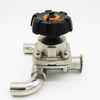 Hygienic 3 way U-Type Diaphragm Valve With Sampling Outlet For Pharmaceutical Industry
