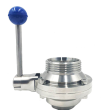 Sanitary Butterfly Type Ball Valve Threaded Ends